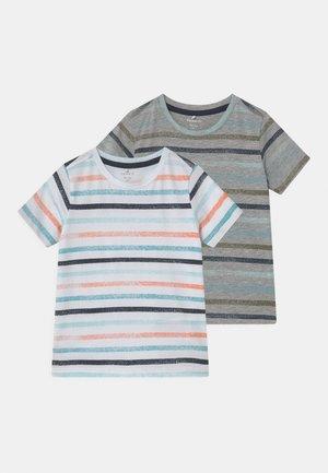 NMMFANTI 2 PACK - Print T-shirt - grey melange
