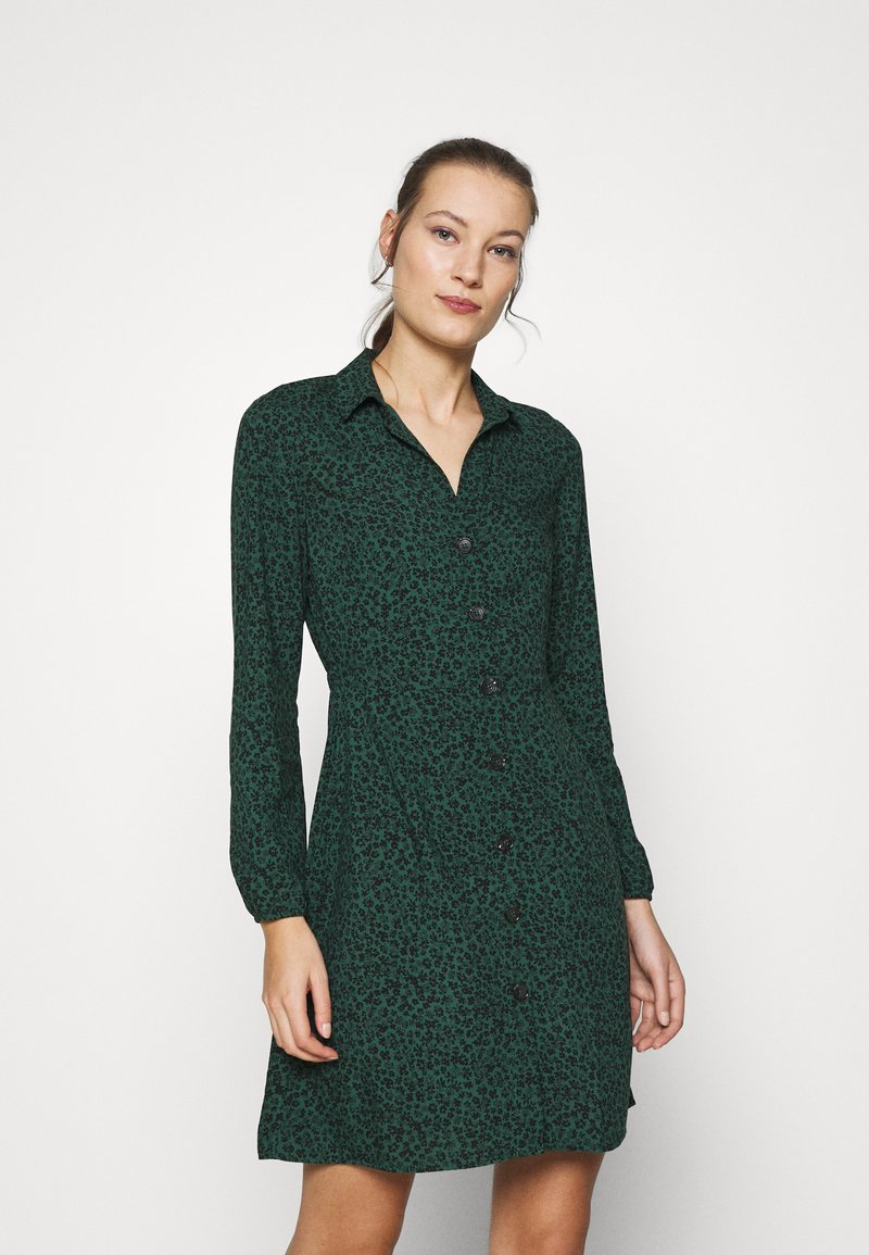 Mavi - LONG SLEEVE DRESS - Skjortekjole - posy green