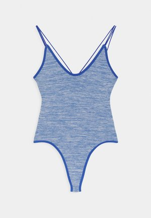 THONG BUNGEE STRAP BODYSUIT - Topper - blue melange