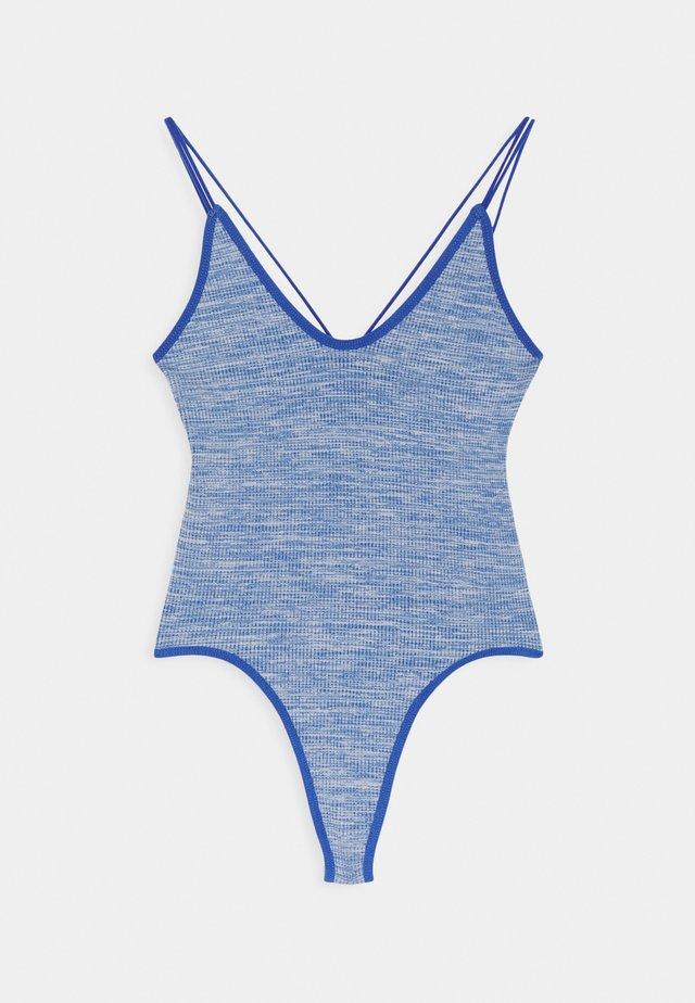 THONG BUNGEE STRAP BODYSUIT - Top - blue melange