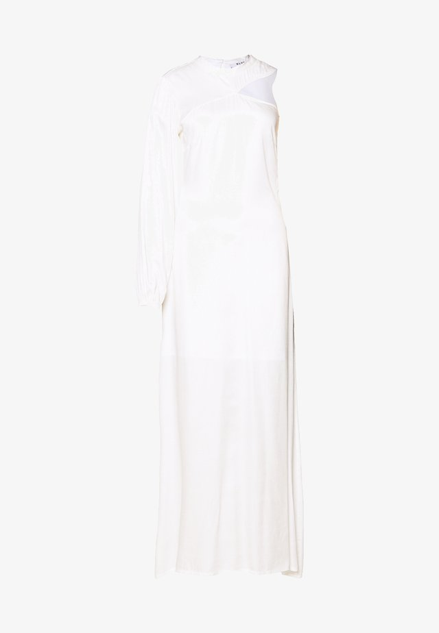 ONE SLEEVE MAXI DRESS - Galajurk - off white