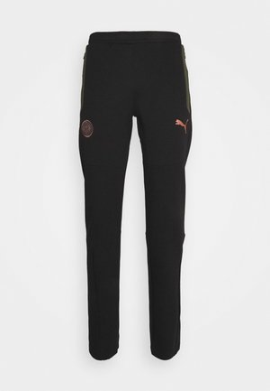 MANCHESTER CITY EVOSTRIPE PANTS - Tracksuit bottoms - black/forest night