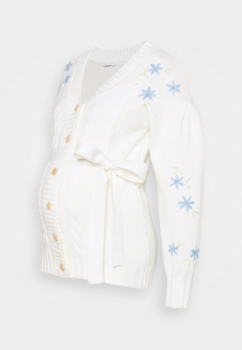 Glamorous Bloom - EMBROIDERED WITH LONG SLEEVES - Cardigan - cream