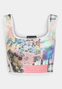 NEW girl ORDER - COTTAGE MIXED PRINT CROP - Top - multi - 0