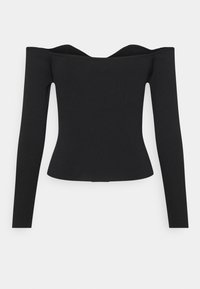 Who What Wear - OFF THE SHOULDER - Jersey de punto - black - 1