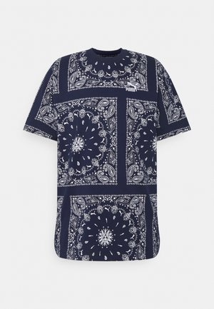 TEE - Print T-shirt - peacoat