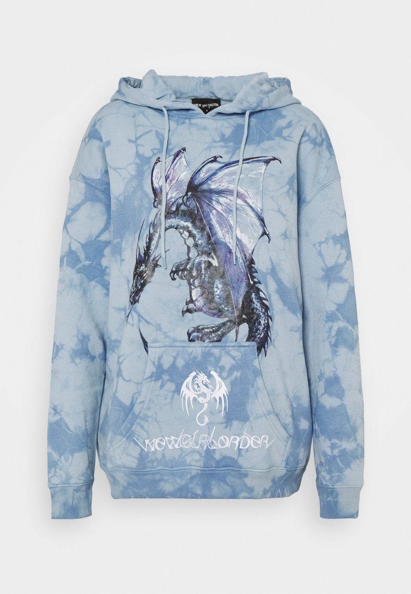 NEW girl ORDER - DRAGON TIE DYE HOODY - Sweatshirt - blue