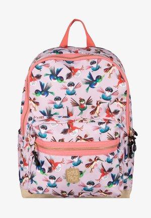 BIRDS - School bag - soft pink