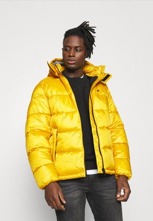 HOODED JACKET - Winter jacket - yellow