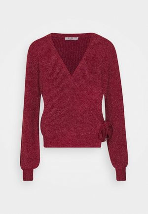 TIE SIDE - Jumper - red wine