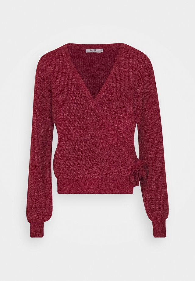 TIE SIDE - Pullover - red wine
