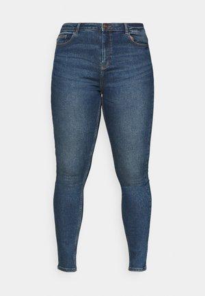PCHIGHFIVE - Jeans Skinny Fit - medium blue denim