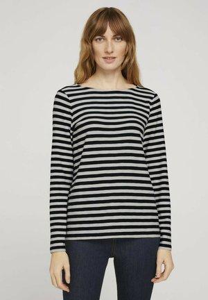 Maglietta a manica lunga - navy offwhite stripe