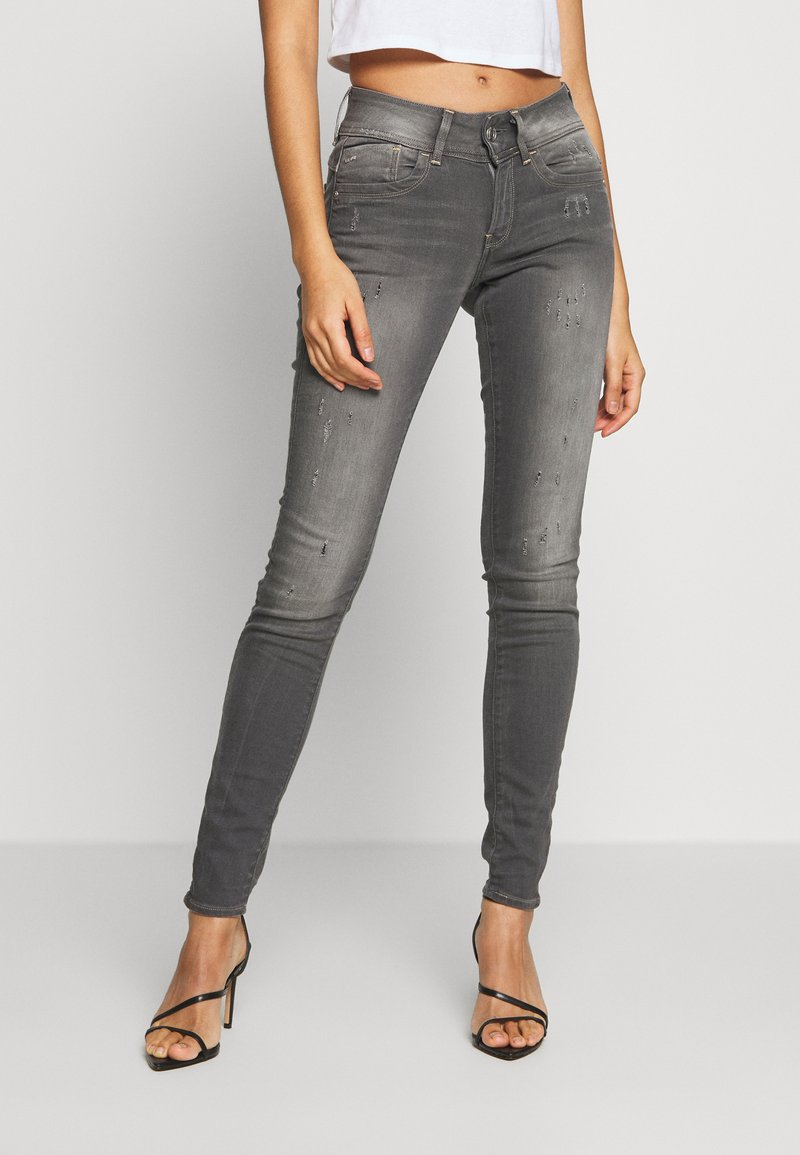 G-Star - LYNN MID SKINNY - Jeans Skinny Fit - slander grey superstretch