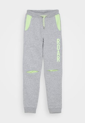 KIDS ROAR DINOSAUR  - Tracksuit bottoms - nebel