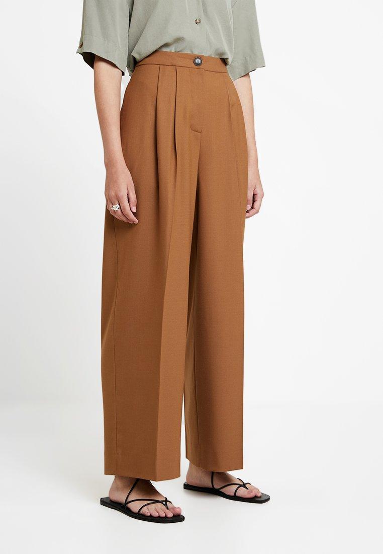 Samsøe Samsøe - ZAL TROUSERS - Pantalon classique - rubber