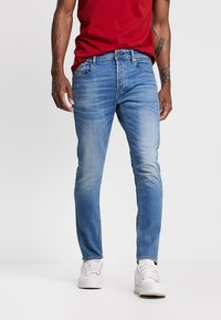 G-Star - 3301 SLIM FIT - Slim fit jeans - authentic faded blue - 0