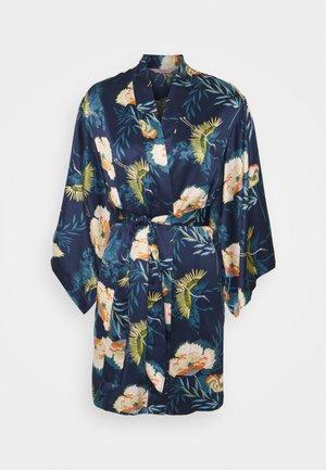 KIMONO LOTUS BIRD - Dressing gown - dark teal