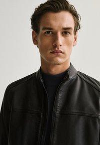 Massimo Dutti - Leather jacket - blue - 3