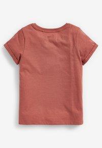 Next - 3 PACK - Basic T-shirt - white/burnt orange denim/grey - 3