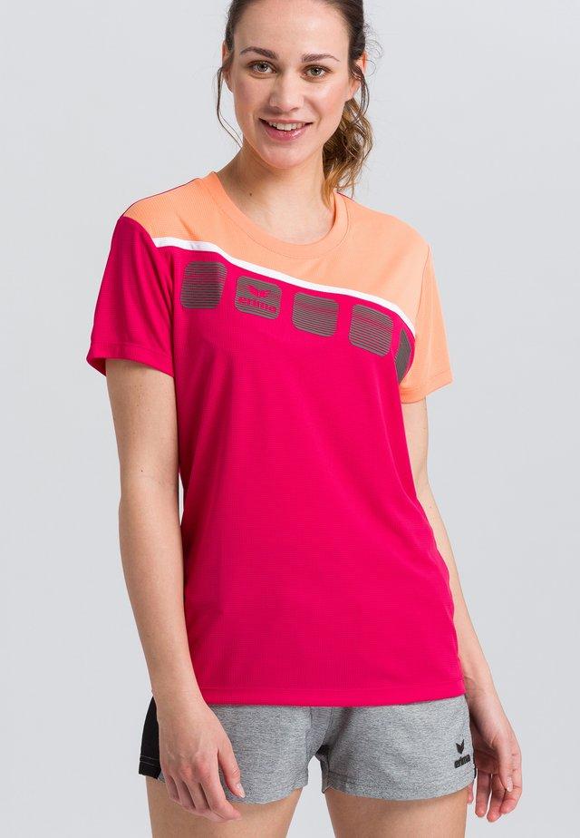 Print T-shirt - pink/white