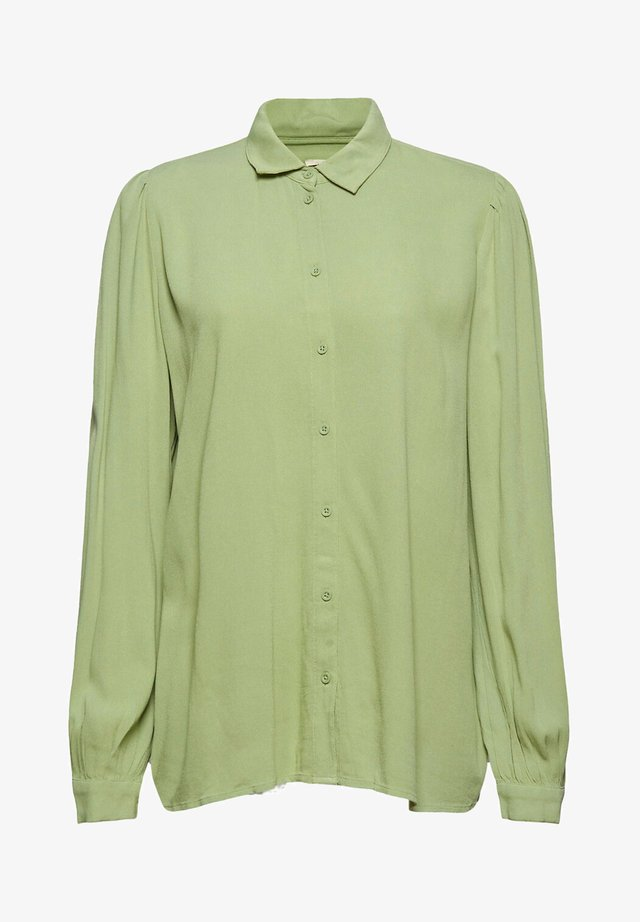 Button-down blouse - dusty green