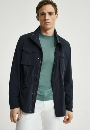 Summer jacket - blue-black denim