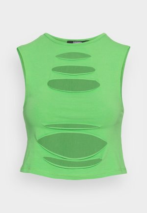 SLASH DETAIL CROP - Top - green