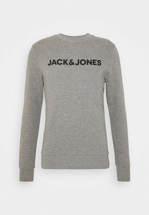 JACLOUNGE ONECK - Sweatshirt - light grey melange