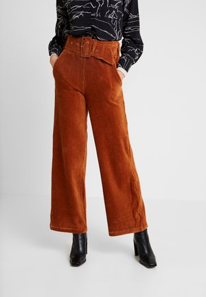 PONTON - Kalhoty - camel