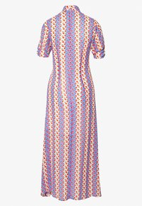Lost Ink - PRINTED FLORAL BUTTON DETAIL MIDI DRESS - Hverdagskjoler - multi - 1