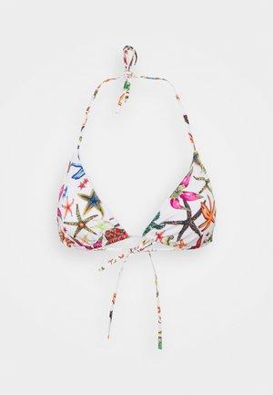 Bikini top - bianco/multicolor
