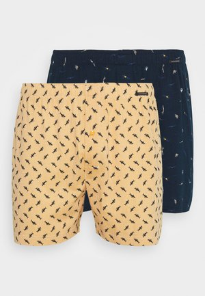 2-PACK - Boxer shorts - dark blue/yellow