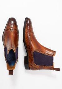 Melvin & Hamilton - MARTIN - Classic ankle boots - tan/purple/brown - 1