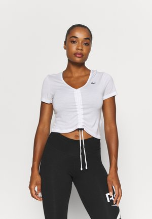 CINCHED - T-shirts med print - white
