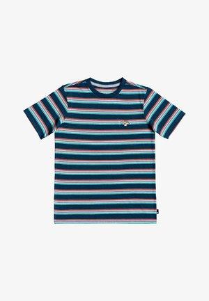 COREKY MATE - Print T-shirt - majolica blue mate