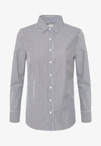 J.CREW PETITE - PERFECT SHIRT IN CLASSIC STRIP - Button-down blouse - black - 4