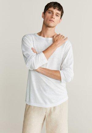 T-SHIRT 100% LIN IMPEGA - Long sleeved top - blanc