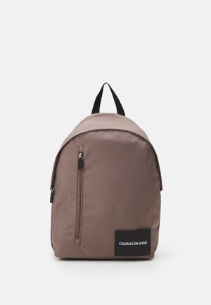ROUND FRONT ZIP UNISEX - Rucksack - dusty brown