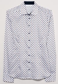 Eterna - Button-down blouse - weiss/braun/blau - 5