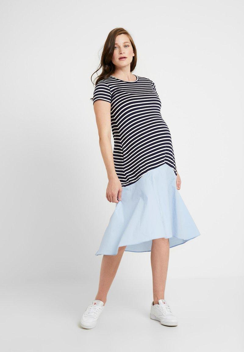Attesa Maternity - RIGHE+COTONE - Sukienka z dżerseju - light blue