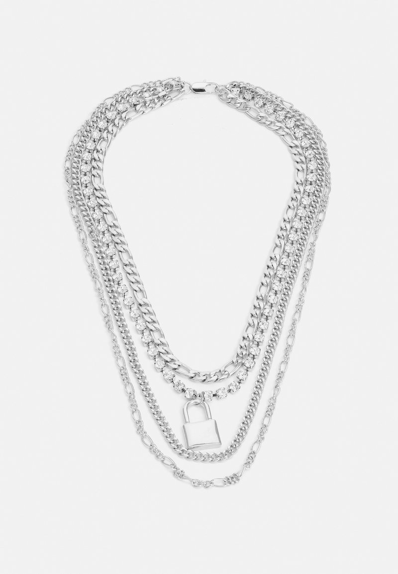 Uncommon Souls - LAYERED CHAINS UNISEX - Collier - silver-coloured