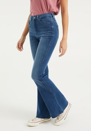 MET STRETCH - Flared Jeans - blue
