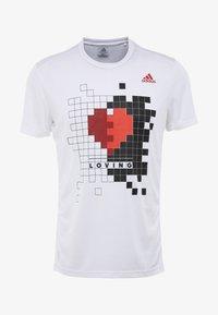 adidas Performance - OWN THE RUN TEE - Print T-shirt - white - 4