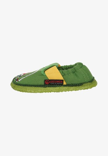 First shoes - mottled green