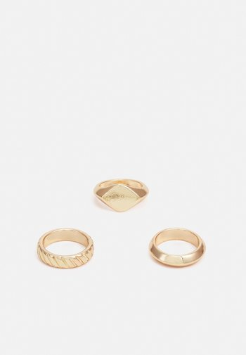 PCOLLA 3 PACK - Ring - gold-coloured