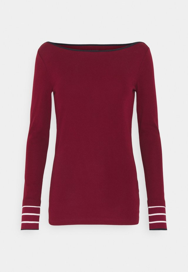 CORE - Long sleeved top - bordeaux red