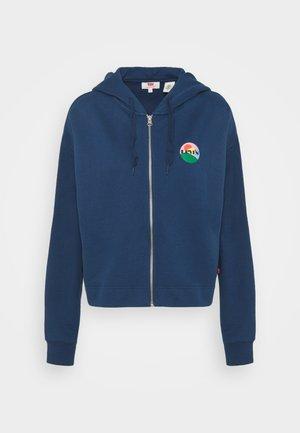 GRAPHIC ZIP SKATE HOODIE - Zip-up hoodie - dark blue