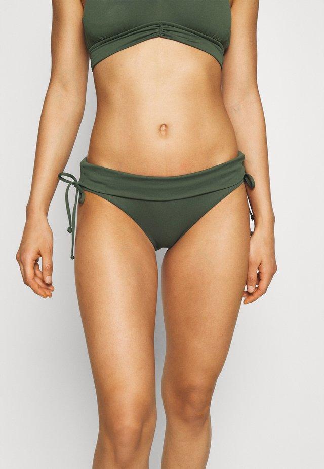 RUCHED SIDE HIPSTER - Bikinialaosa - ivy