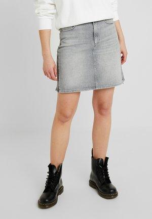 3301 ZIP SKIRT - Áčková sukně - lavas grey stretch denim